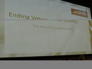 A title slide to a presentation on ending veteran homelessness in 2015